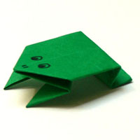 Origami Frosch 1
